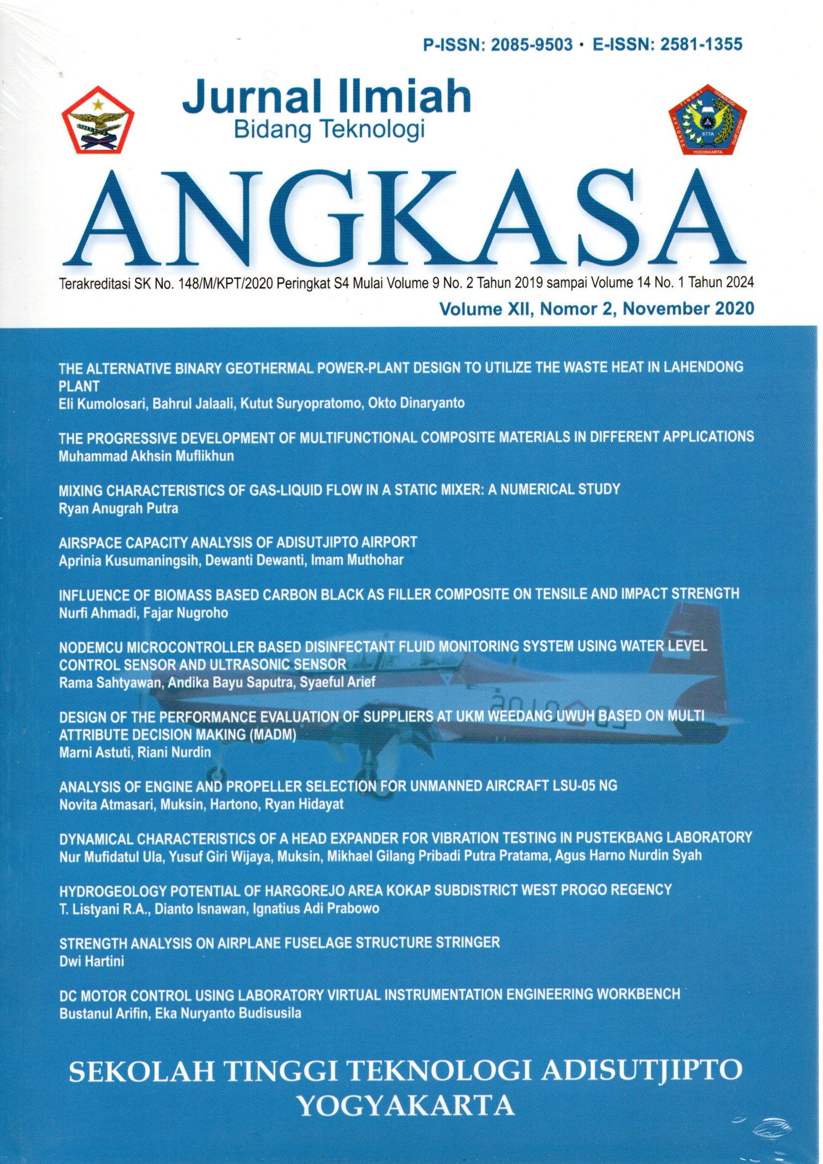 Cover jurnal Angkasa November 2020