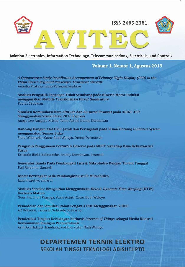 Cover Jurnal Avitec Vol 1 No 1 2019