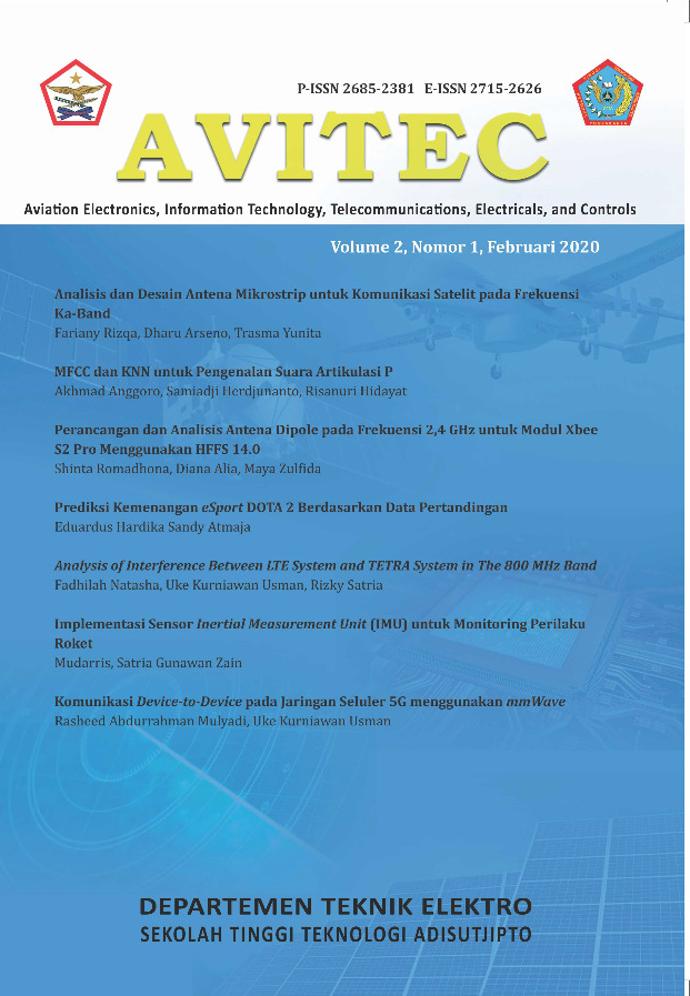 Cover Jurnal Avitec Vol 2 No 1 2020